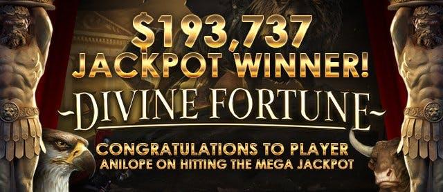 Sugarhouse Casino - $193,737 Mega Jackpot Divine Fortune Winner on First Spin