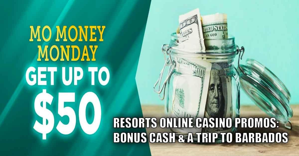 NJ Online Casino Promos: Resorts Online Casino Offers Bonus Cash, Trip To Barbados