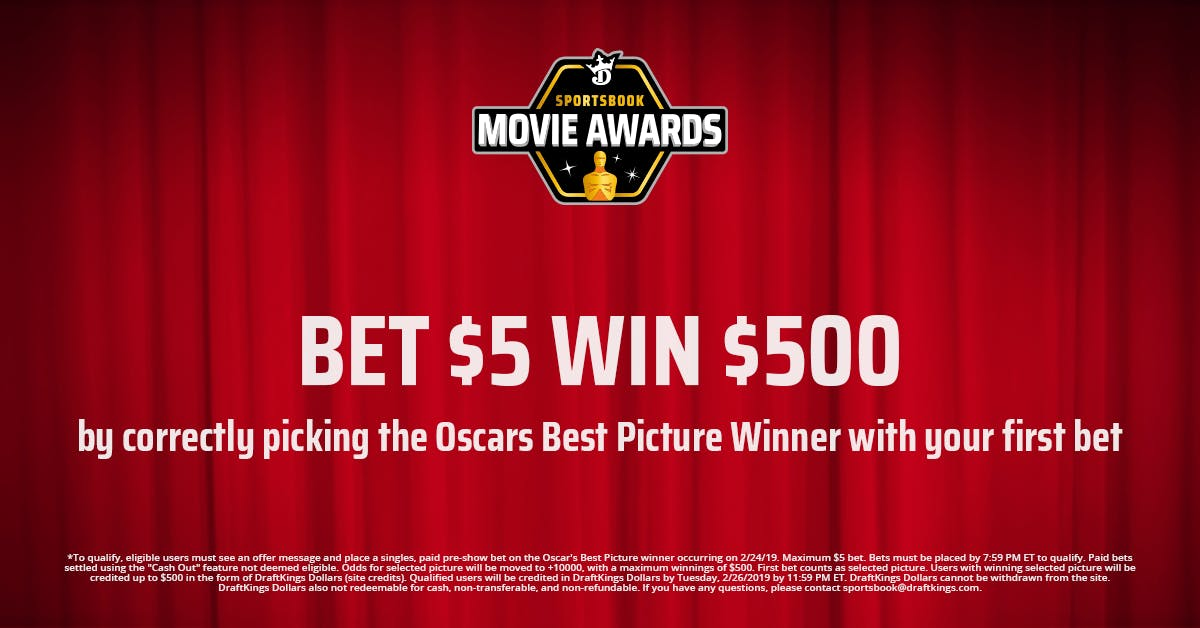 DraftKings Offer 100-to-1 Best Picture Odds & $20 Oscars