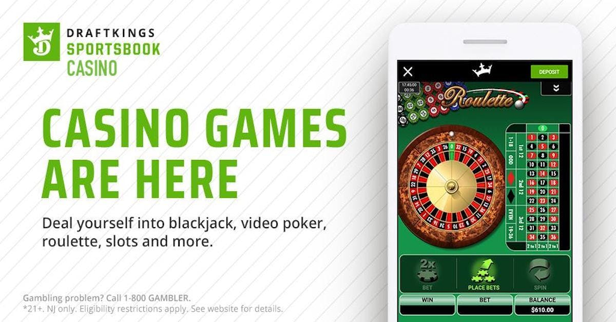 DraftKings Sportsbook Adds Slots, Roulette, Video Poker To NJ Online Casino