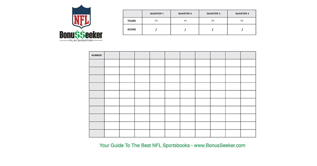 Super bowl betting squares pdf fagor 5cf 56 msw betting