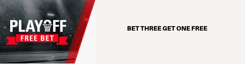 BetStars Promo - Playoff Free Bet - Bet Three Get One Free