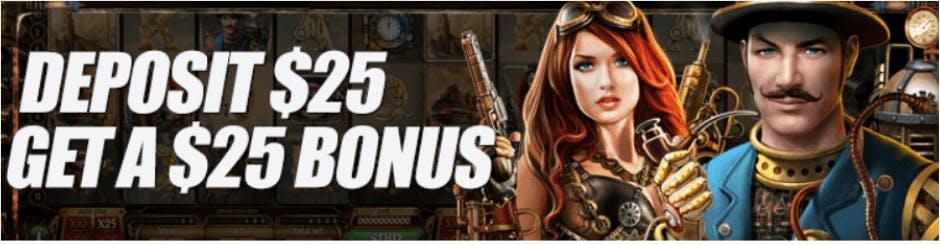 Harrahs Online Casino Promo - Deposit $25 Get A $25