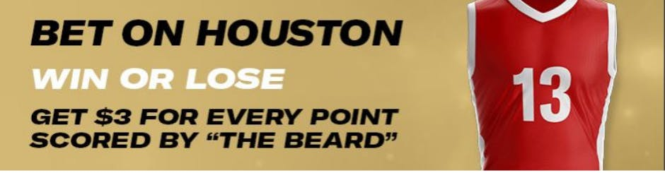 playMGM Online Casino Promo - Beard Boost - Bet On Houston - Get More When They Score