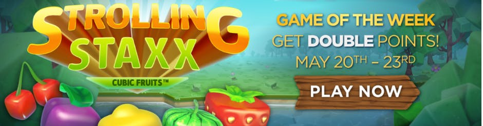 Golden Nugget Online Casino Promo - Game Of The Week - Strolling Staxx - Cubic Fruits